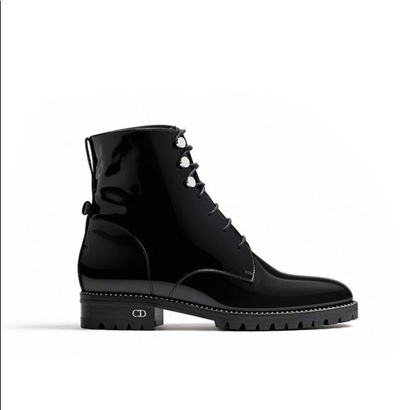 a4f824e32 Dior Shoes | Last Chance Glazed Calfskin Combat Ankle Boot | Poshmark